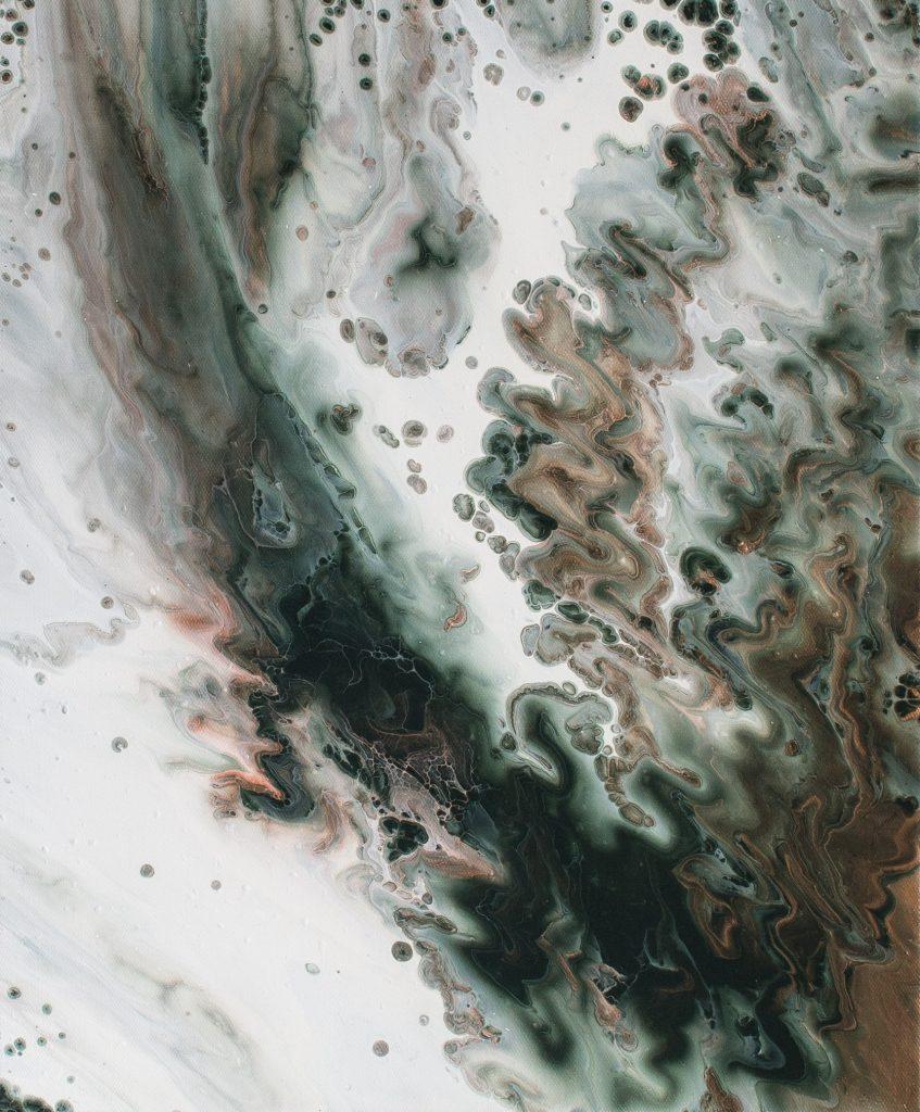 Abstract art, painting by the artist Emma Ivane Abstrakti maalaus taiteilija Emma Ivane