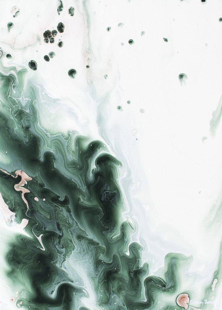 Abstrakti maalaus Emma Ivane